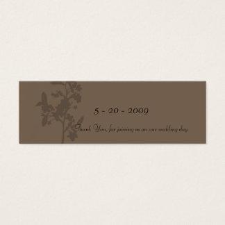 Trufa (obrigado você) cartão de visitas mini