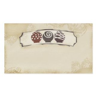 truffles chocolate candy making baking business ca business card templates