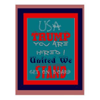Trunfo dos EUA você é contratado! Unido nós Cartão Postal