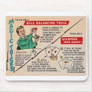 Truques mágicos mágicos Ad do kitsch retro do vint Mouse Pad