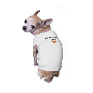 Truques para deleites camisa sem mangas para cachorro