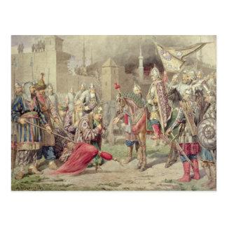 Tsar Ivan IV Vasilyevich o terrível Cartão Postal
