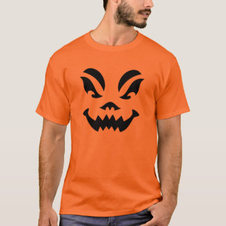 Tshirt 1 da cara da abóbora do Dia das Bruxas