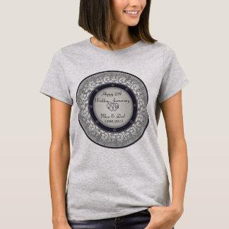 Tshirt 25o Aniversário de casamento de prata