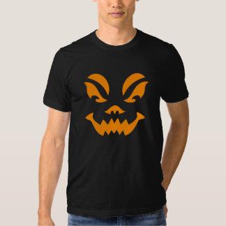 Tshirt 2 da cara da abóbora do Dia das Bruxas