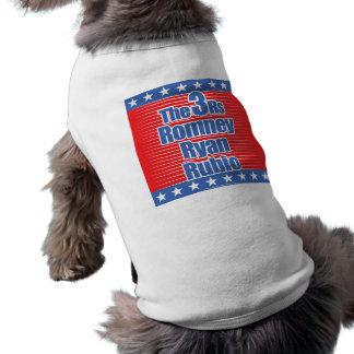 Tshirt 3Rs para cães Camisa Sem Mangas Para Cachorro