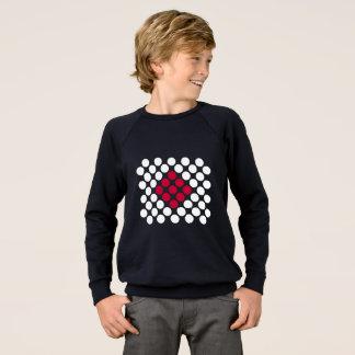 Tshirt A camisola minimalista do miúdo dos pontos da