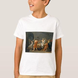Tshirt A morte de Socrates por Jacques-Louis David