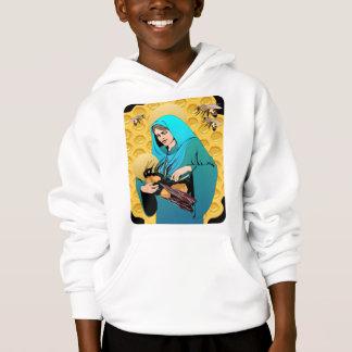 Tshirt A Virgem Maria Madonna & Bumble a abelha