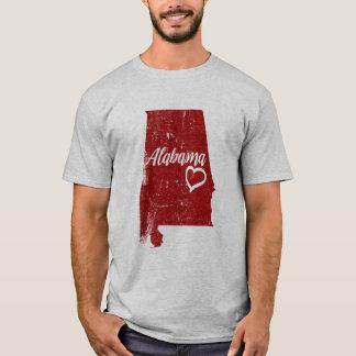 Tshirt afligido amor do vintage do estado do AL de