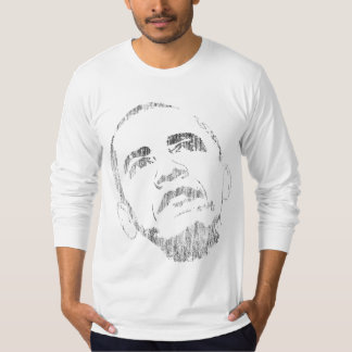 Tshirt afligido de Barack Obama