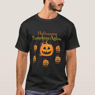 Tshirt Aglow das abóboras do Dia das Bruxas