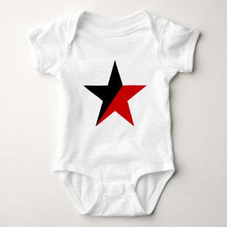 Tshirt Anarquismo preto e vermelho do