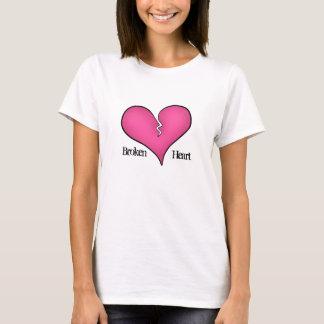 Tshirt Anti dia dos namorados do coração cor-de-rosa