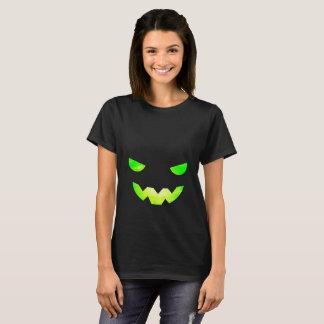 Tshirt assustador da cara da abóbora da camisa das