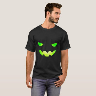 Tshirt assustador da cara da abóbora da camisa dos