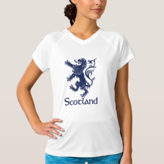 Tshirt Azuis marinhos desenfreados escoceses do leão