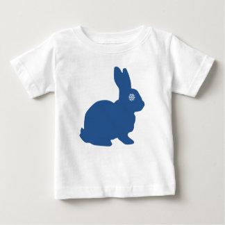 Tshirt azul do bebê do floco de neve