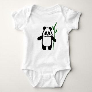 Tshirt Bambu o Romper do Creeper do bebê da panda