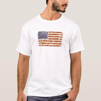 Tshirt Bandeira americana desvanecida da glória