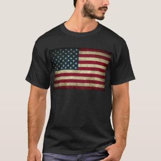 Tshirt bandeira americana desvanecida e suja