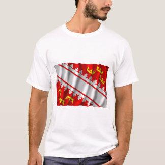 Tshirt Bandeira de ondulação de Alsácia
