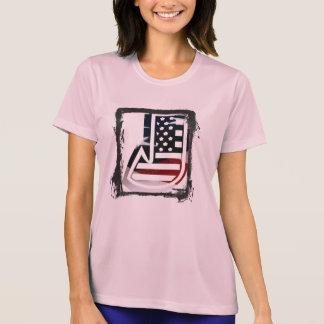 Tshirt Bandeira patriótica dos EUA da inicial do