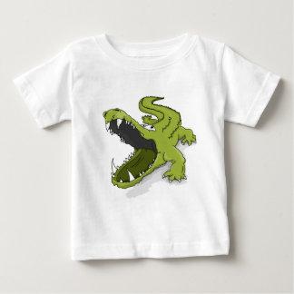 Tshirt Boca verde do jacaré do crocodilo dos desenhos