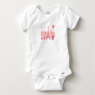 Tshirt Body Algodão Bebé Paris