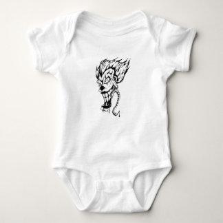 Tshirt Bodysuit mau do jérsei do bebê do palhaço
