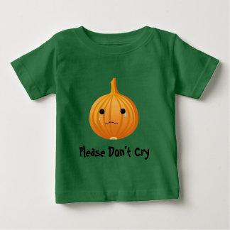 Tshirt bonito do bebê da cebola engraçada