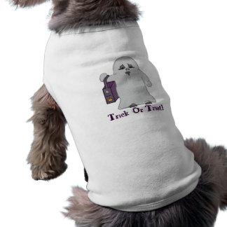 Tshirt bonito do fantasma camisa sem mangas para cachorro