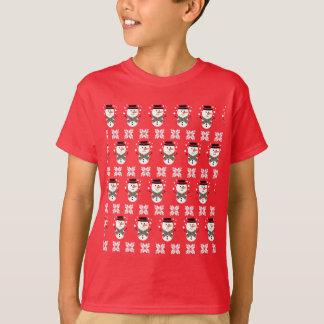 Tshirt bonito do Natal do Xmas do boneco de neve