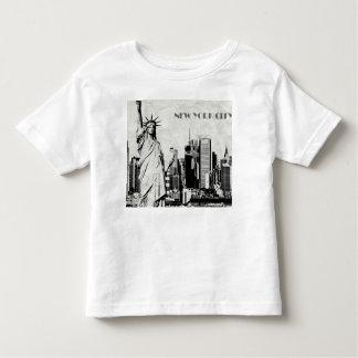 Tshirt branco da Nova Iorque da criança
