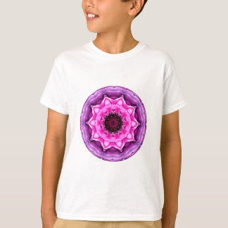 Tshirt Caleidoscópio roxo & cor-de-rosa do ranúnculo