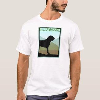 Tshirt Cão do Bloodhound do estilo do artesão