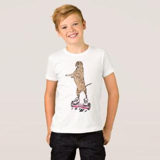 Tshirt Cão em Hoverboard