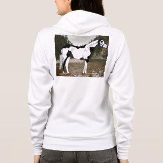 Tshirt Cavalo preto e branco da pintura de Overo