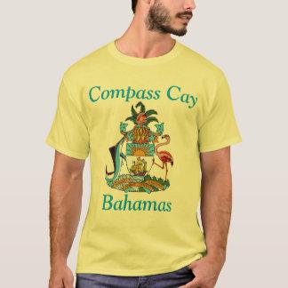 Tshirt Cay do compasso, Bahamas com brasão