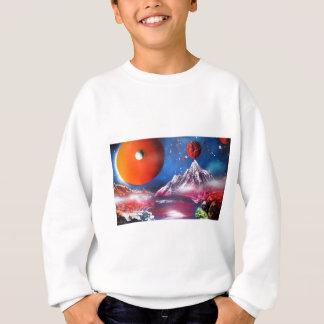 Tshirt Cena dos planetas do espaço da arte da pintura