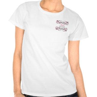 Tshirt chique preto cor-de-rosa do promocional do