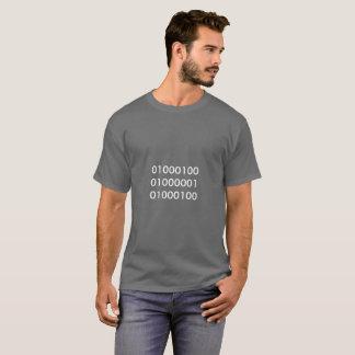 Tshirt cinzento ou preto do pai binário