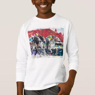 Tshirt Colagem abstrata dos cavalos de raça