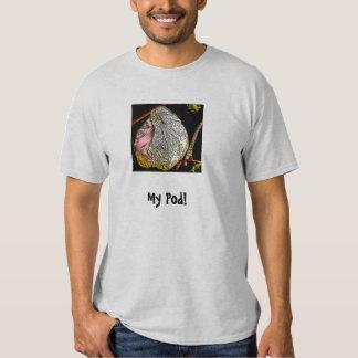 Tshirt com a foto estilizado do vagem de planta