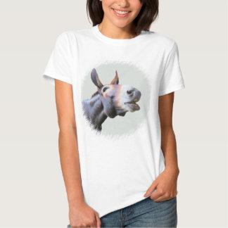 Tshirt com imagem da foto de um asno