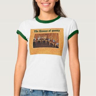 Tshirt cómico engraçado das rainhas dos gatos