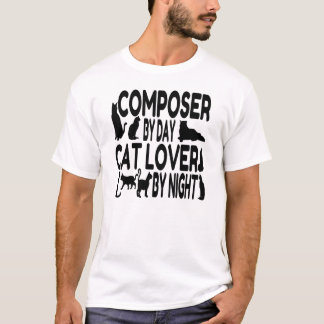 Tshirt Compositor do amante do gato