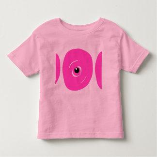 Tshirt. cor-de-rosa bonito da criança do monstro camiseta