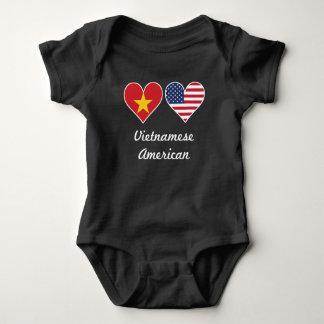 Tshirt Corações vietnamianos da bandeira americana