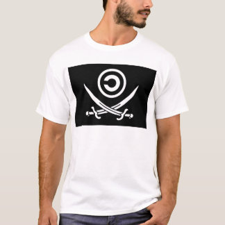 Tshirt Crânio & bandeira de Anti-Copyright Copyleft dos